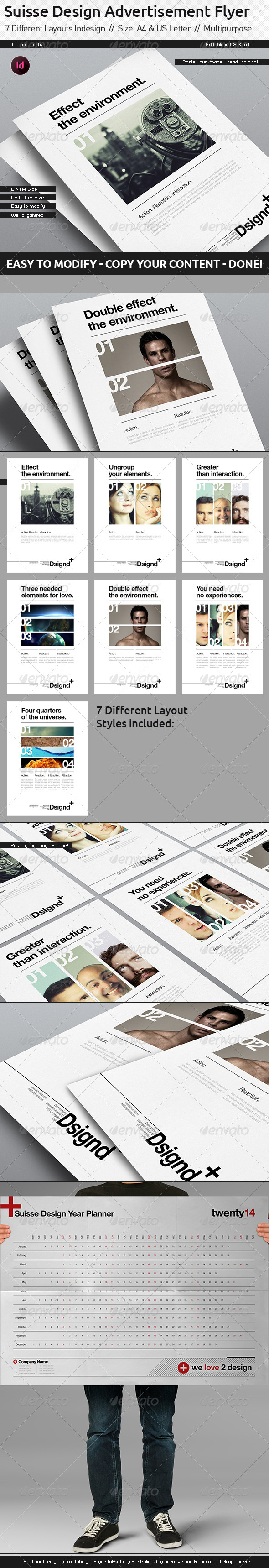 GraphicRiver Swiss Design Advertisment 7 Layouts 6057750