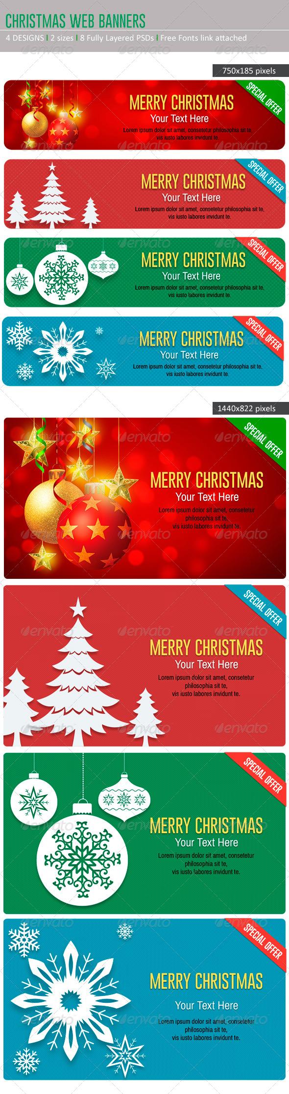GraphicRiver Christmas Web Banners 6057753