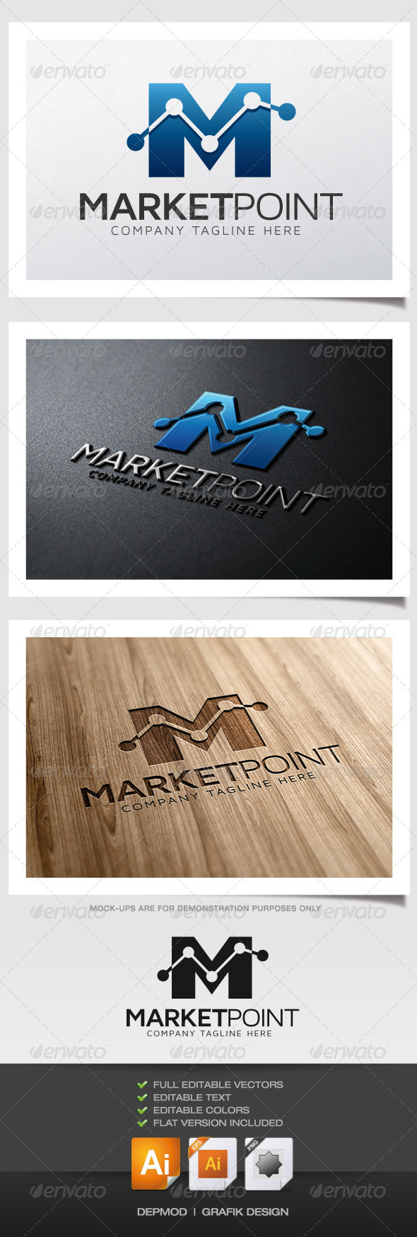 GraphicRiver Market Point Logo 6057979