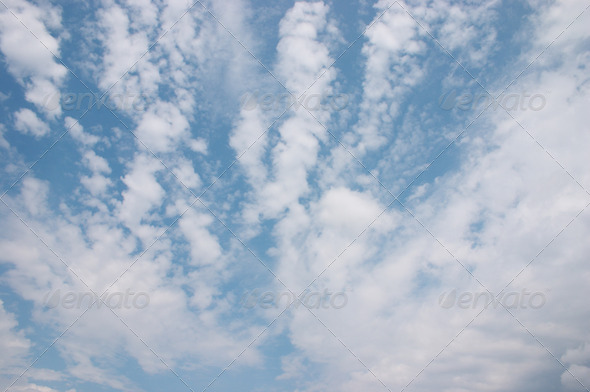 Cloudy sky - Stock Photo - Images