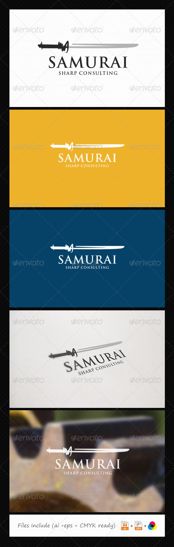 GraphicRiver Samurai Consulting Logo 6058114