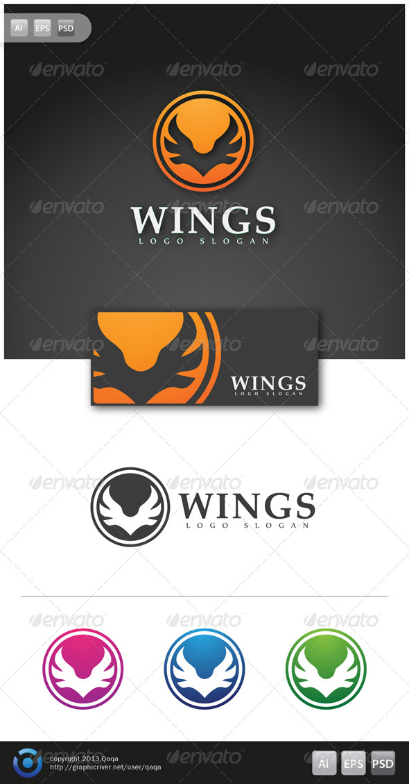 GraphicRiver Wings Logo 02 6058130
