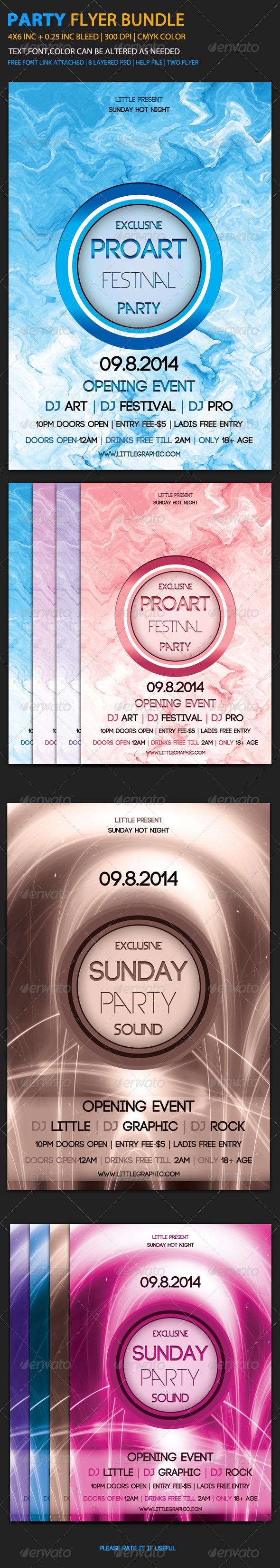 GraphicRiver Party Flyer Bundle 1 6058270