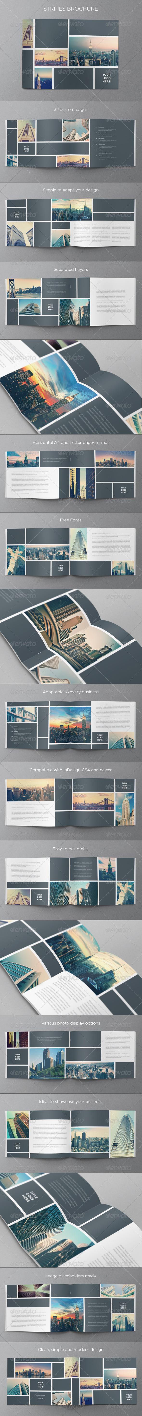 GraphicRiver Real Estate Stripes Brochure 6058277