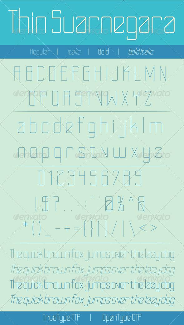 GraphicRiver Thin Suarnegara Font 6058291
