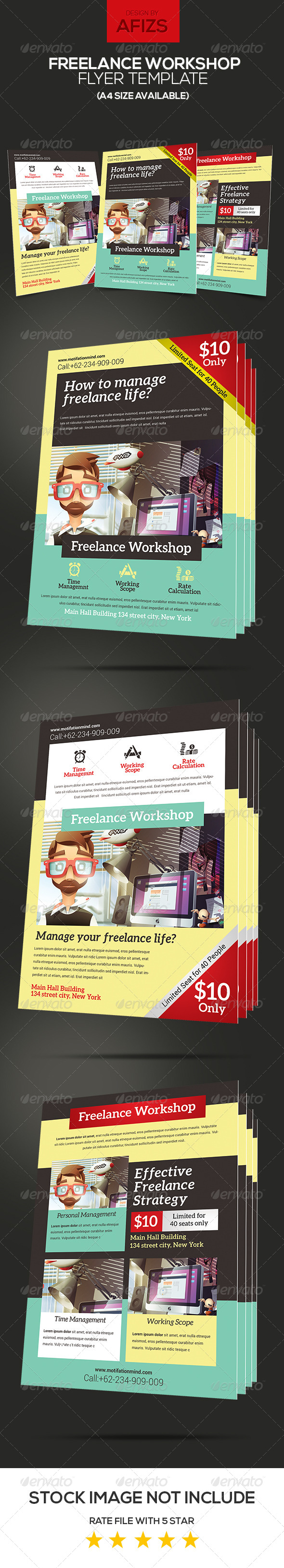 GraphicRiver Freelance Workshop Flyer 6058632