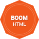 Boom - Responsive Html5 Portfolio Template - ThemeForest Item for Sale