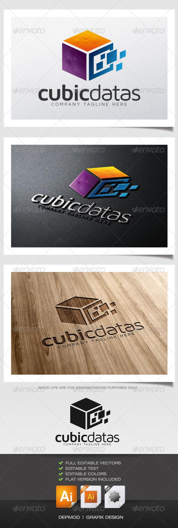 GraphicRiver Cubic Datas Logo 6058901