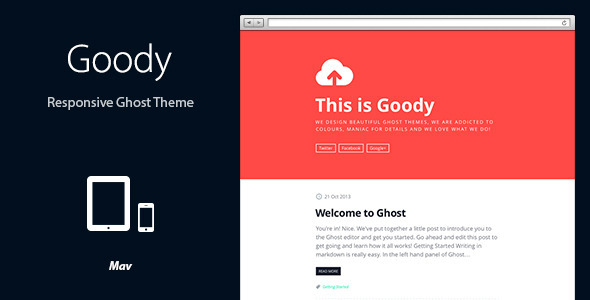 ThemeForest Goody Responsive Ghost Theme 6059102