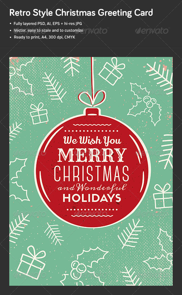 GraphicRiver Christmas Greeting Card Poster 6059131