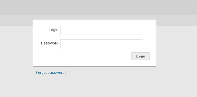 The Simplest Admin Template - Simple login page.