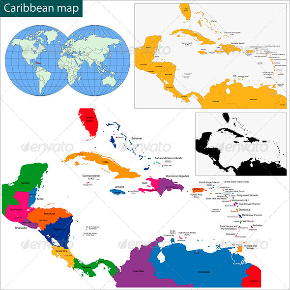 GraphicRiver Caribbean Map 6059219
