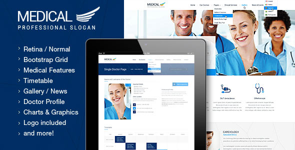 Medical - Health and Medical PSD Template
