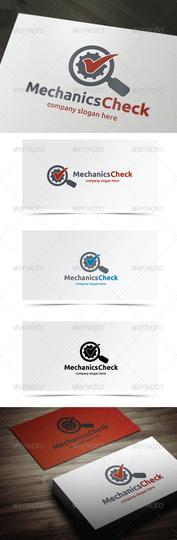 Mechanics Check - Symbols Logo Templates