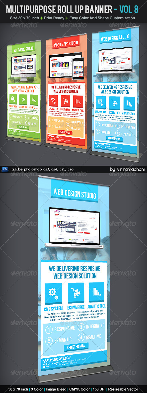 GraphicRiver Multipurpose Roll Up Banner Volume 8 6059239
