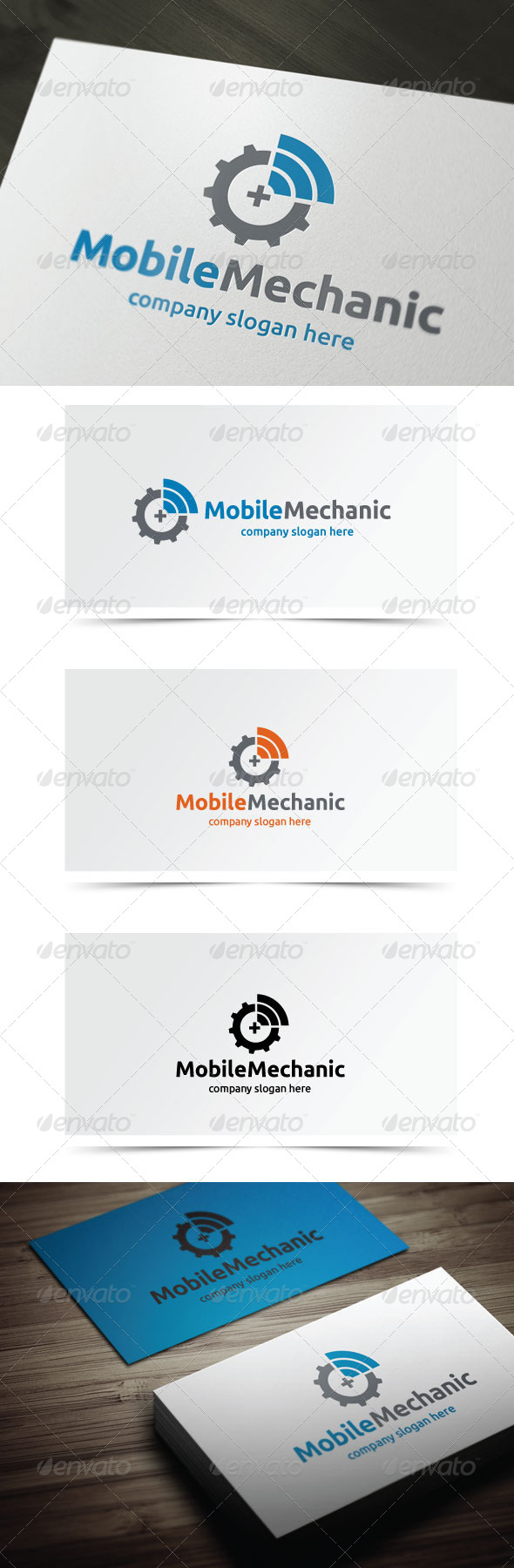 Mobile Mechanic - Symbols Logo Templates