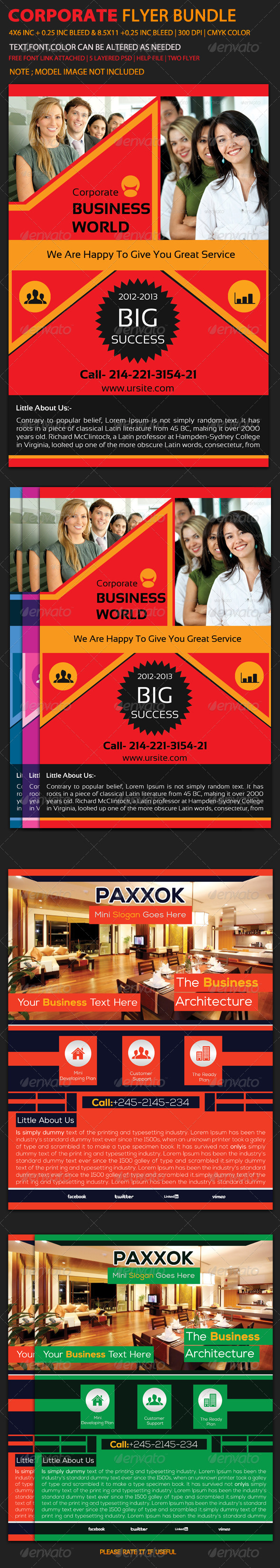 GraphicRiver Corporate Flyer Bundle 1 6059255