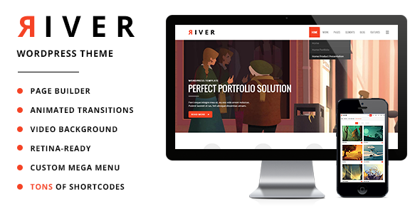 River Retina Multi-Purpose WordPress Theme