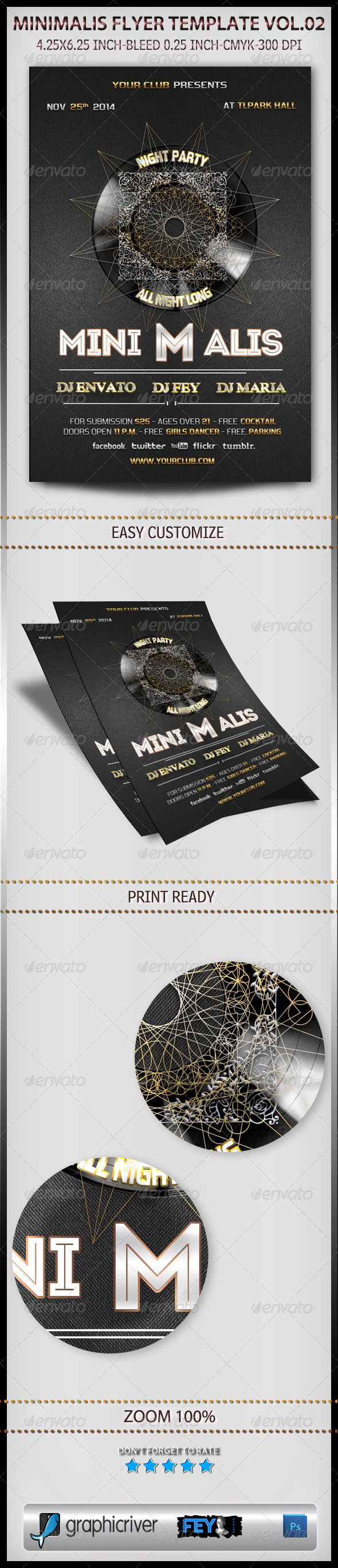 GraphicRiver Minimalis Flyer Template Vol.02 6033073
