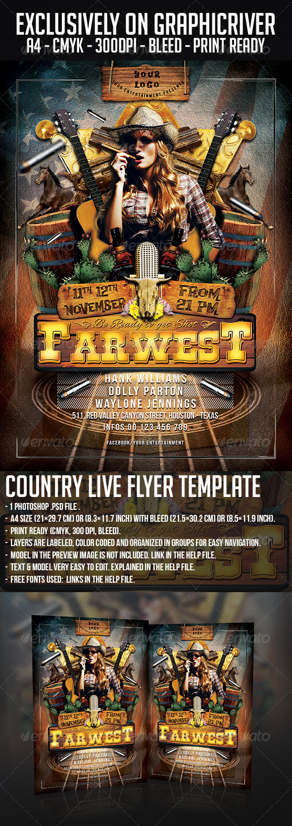 GraphicRiver Country Live Flyer Template 6032423