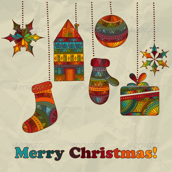 GraphicRiver Vector Christmas Greeting Card 6059578
