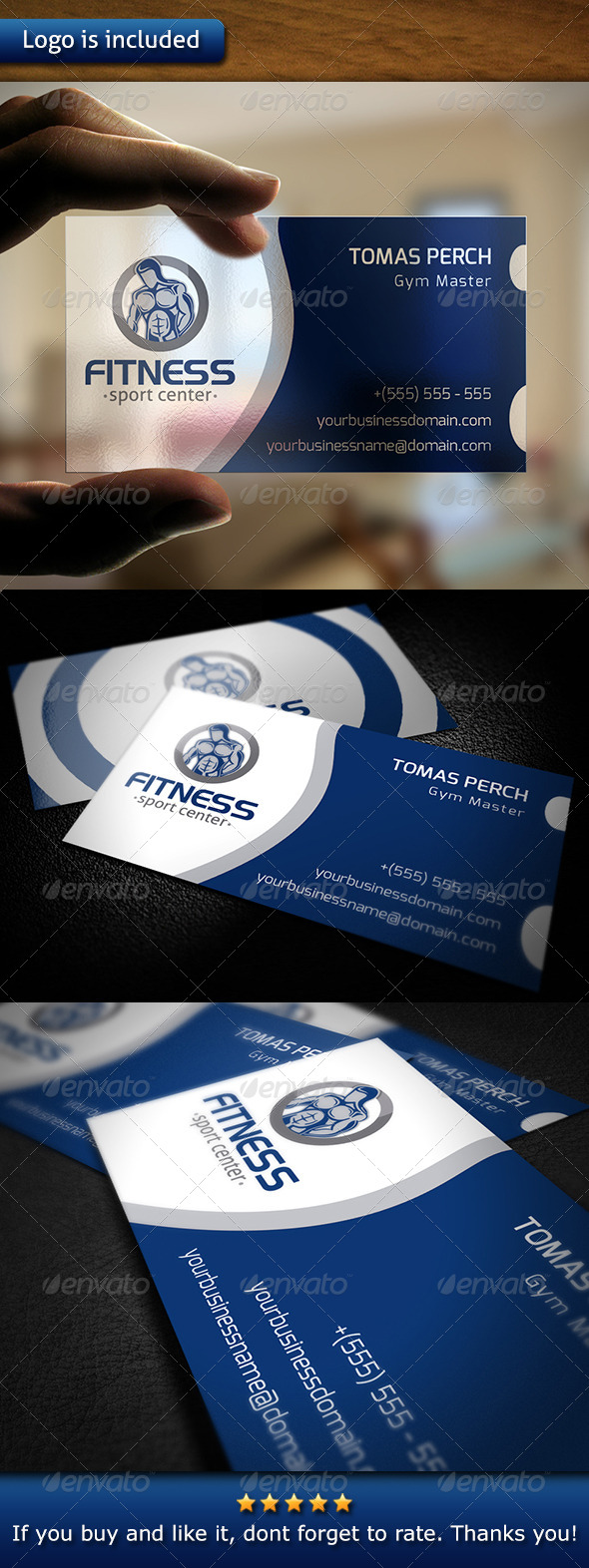 GraphicRiver Crossfit Business Card 6059632