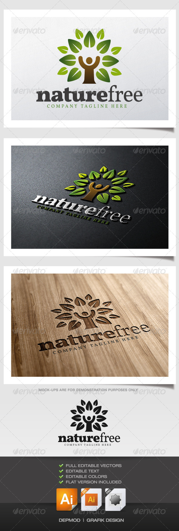 GraphicRiver Nature Free Logo 6059682