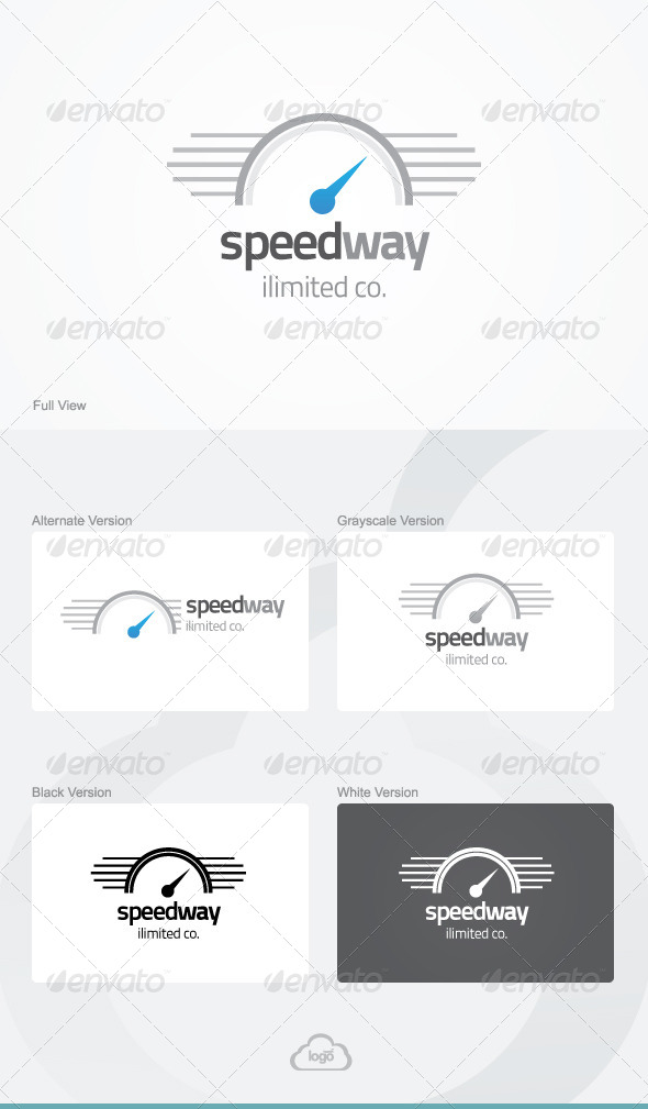 GraphicRiver Speed Way Logo Template 6059696
