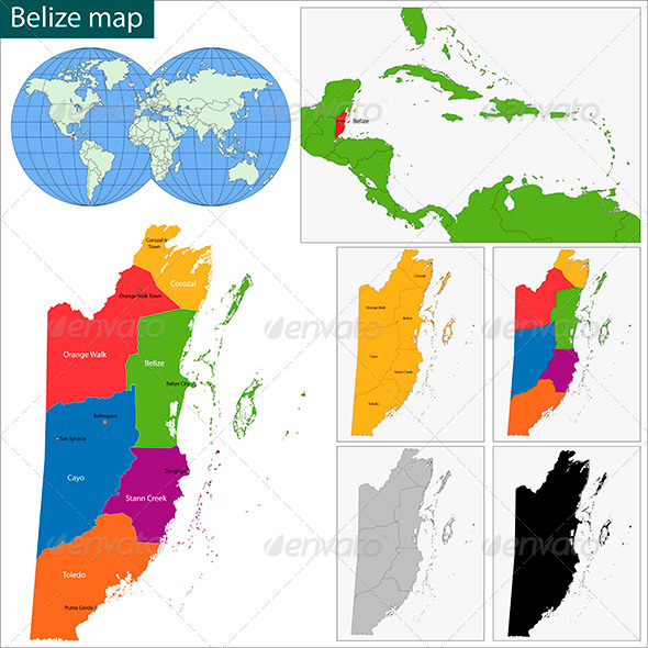 GraphicRiver Belize Map 6060152