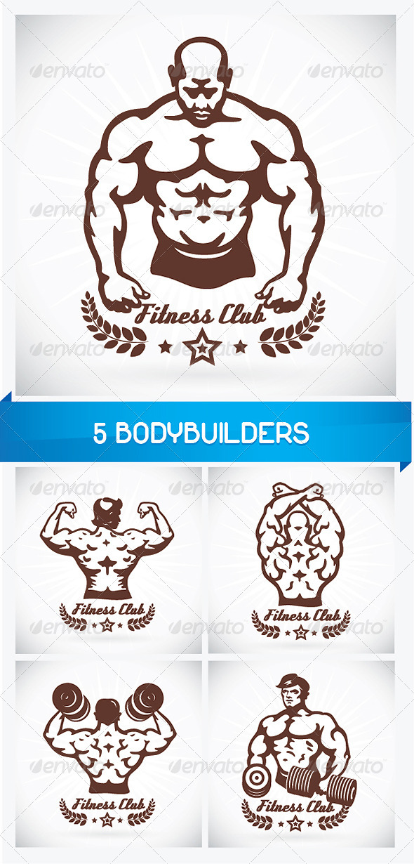 GraphicRiver 5 Bodybuilders 6060300
