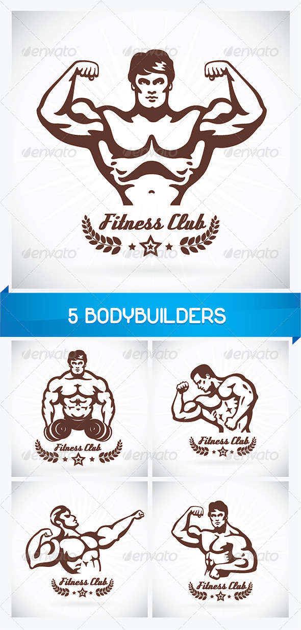 GraphicRiver 5 Bodybuilders 6060358