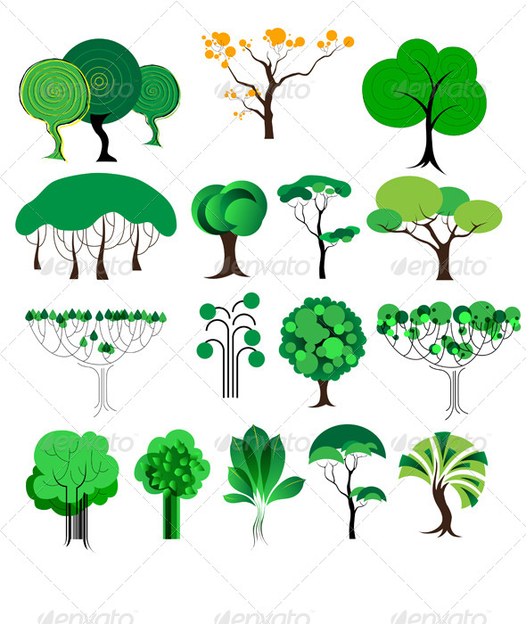 GraphicRiver Decorative Trees 6060446