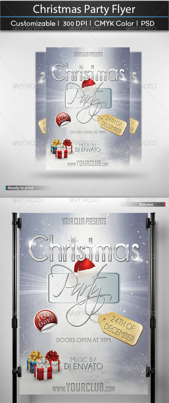 GraphicRiver Christmas Party Flyer 6059581