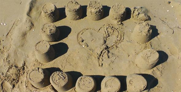Sand Castle Near The Beach