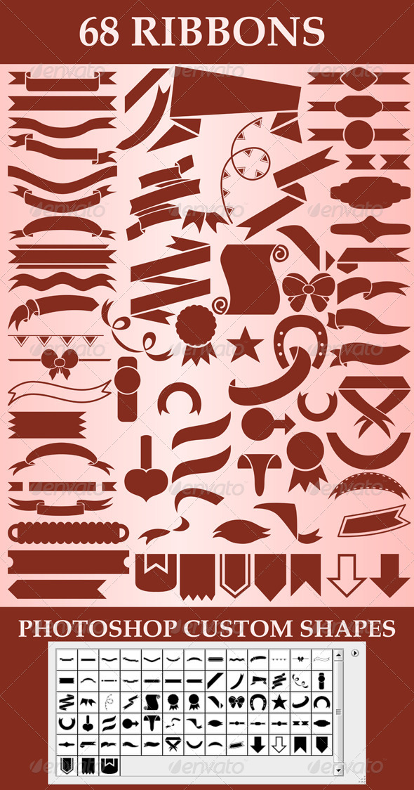 GraphicRiver Ribbons custom shapes 6060537