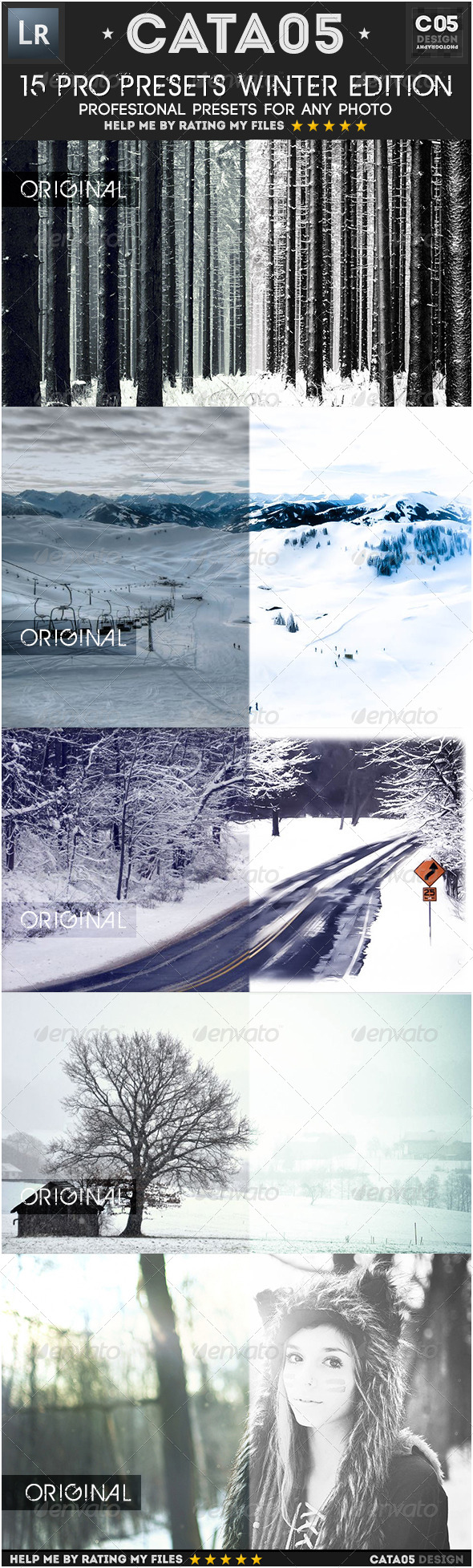 15 Pro Presets Winter Edition - Lightroom Presets Add-ons