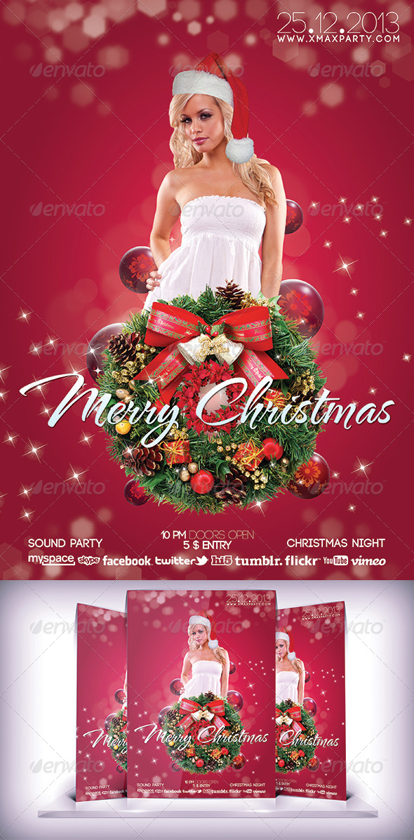 GraphicRiver Xmas Party Night 6060586
