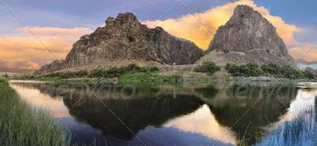 John Day River at Sunset Panorama