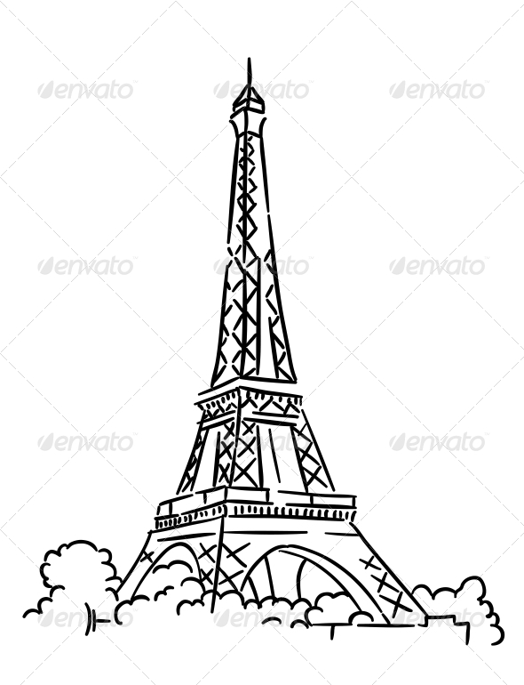GraphicRiver Eiffel Tower in Paris France 6060989