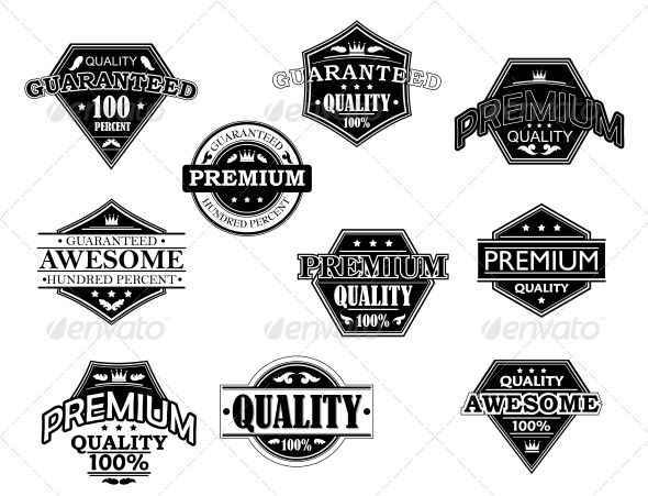 GraphicRiver Set of Labels and Banners in Retro Style 6061104