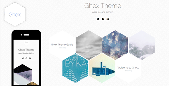 ThemeForest Ghex HoneyComb Responsive Ghost Theme 5916607