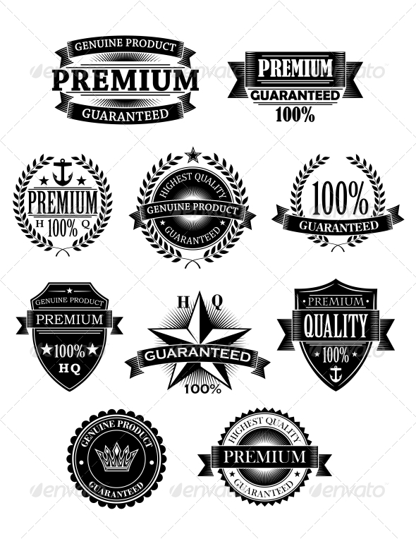 GraphicRiver Banners and Badges for Guarantee Design 6061515