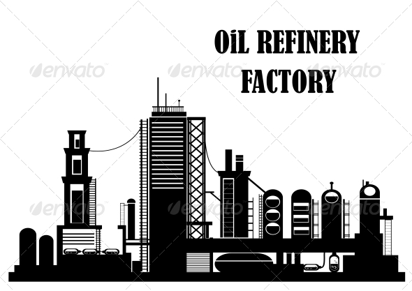 GraphicRiver Oil Refinery Factory 6061570