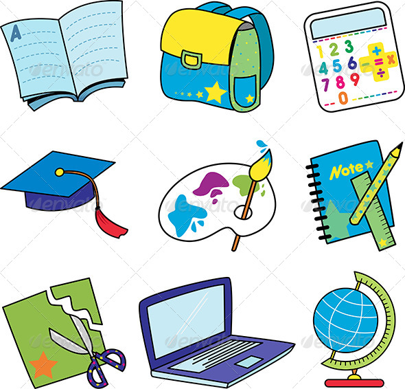 GraphicRiver Education Icons 6061591