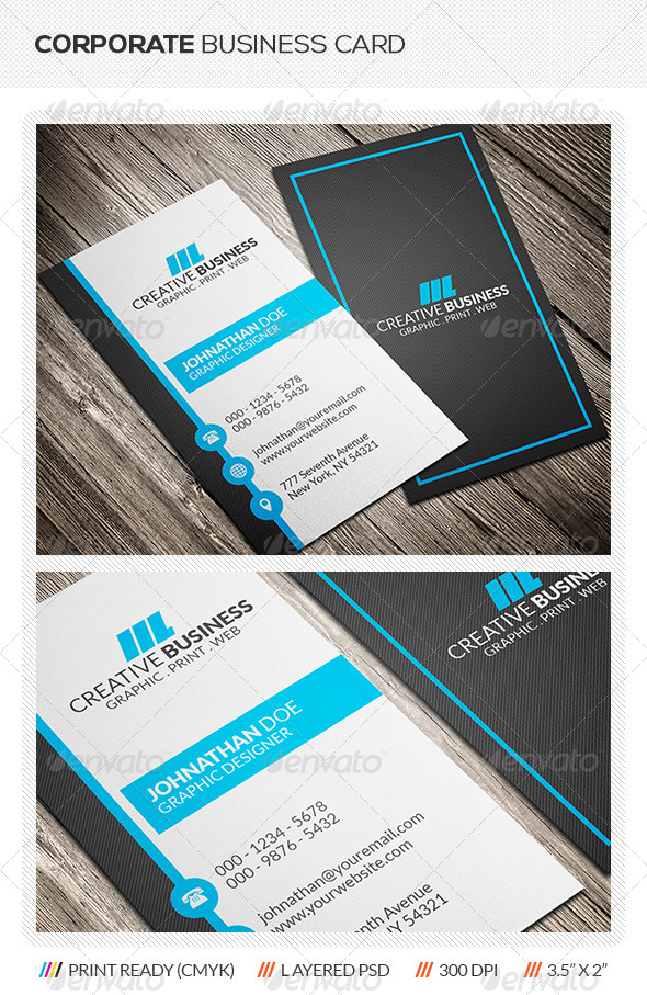 GraphicRiver Corporate Business Card 6036003