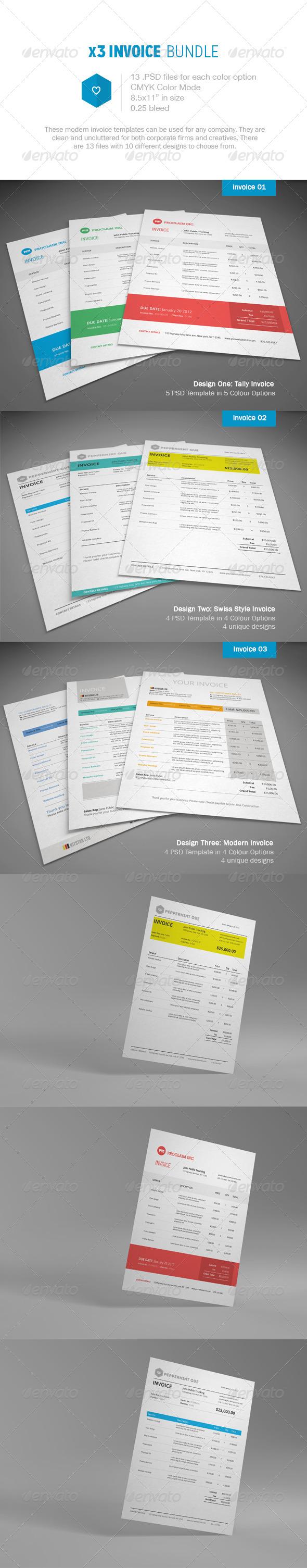 GraphicRiver Invoice Bundle 6061775