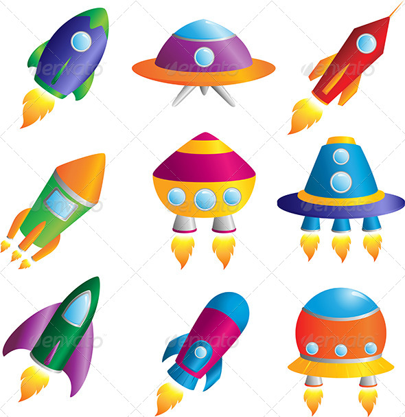GraphicRiver Rockets Icons 6062012