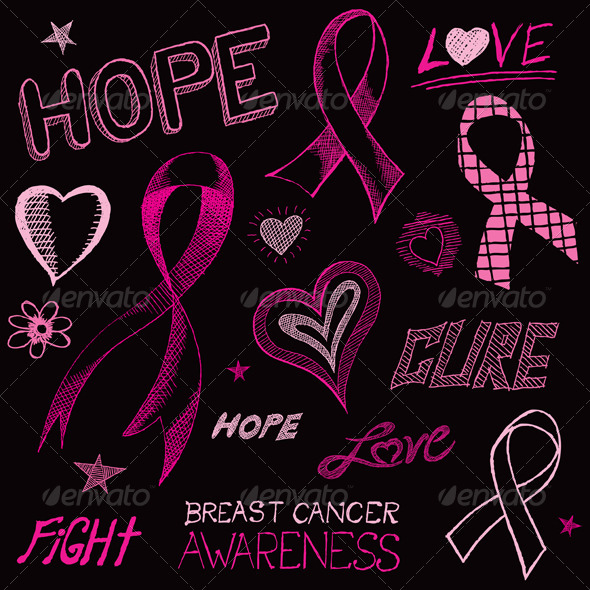 GraphicRiver Breast Cancer Awareness Sketch 6062106