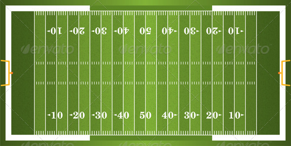 GraphicRiver Vector Textured Grass American Football Field 6062163