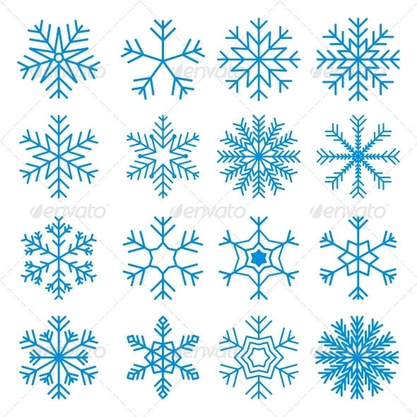 GraphicRiver Snowflakes Icons Set 6062349
